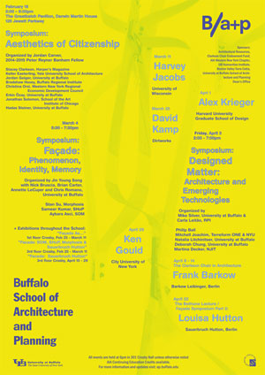 Frank Barkow: Lecture and Seminars at the Buffalo School of Architecture and Planning