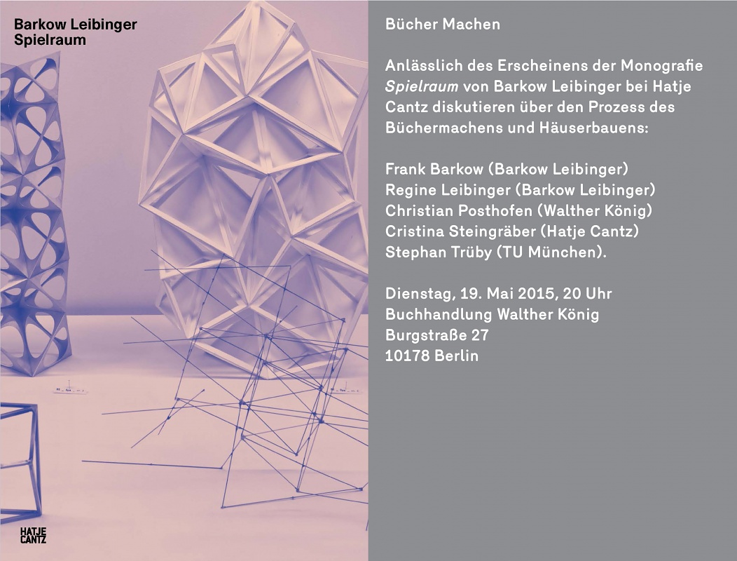 Spielraum - Book presentation and panel discussion at Walther König, Berlin