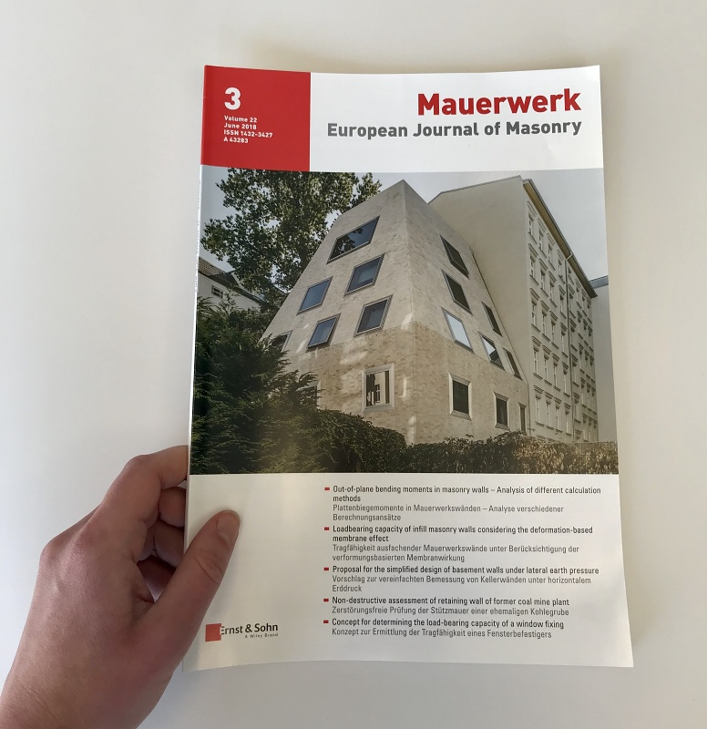 Mauerwerk: European Journal of Masonry