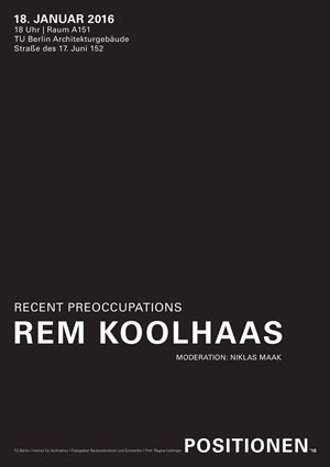 Rem Koolhaas POSITIONEN