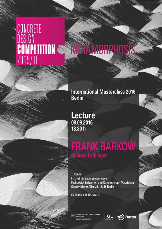 Frank Barkow at the TU Berlin - Concrete Design Masterclass 2016