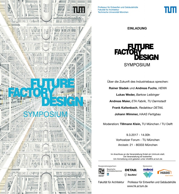 "Lukas Weder speaks at the symposium ""Future Factory Design"" of the TU München"