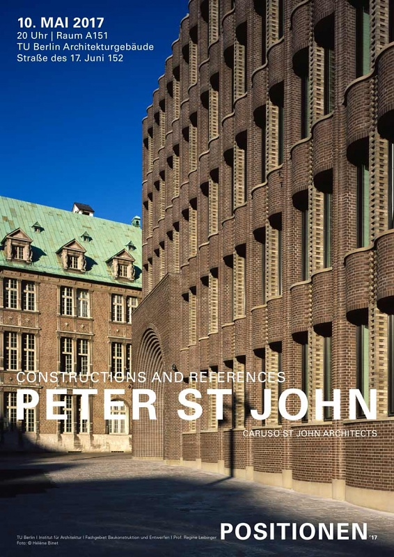 POSITIONEN Lecture at TU Berlin: Peter St John
