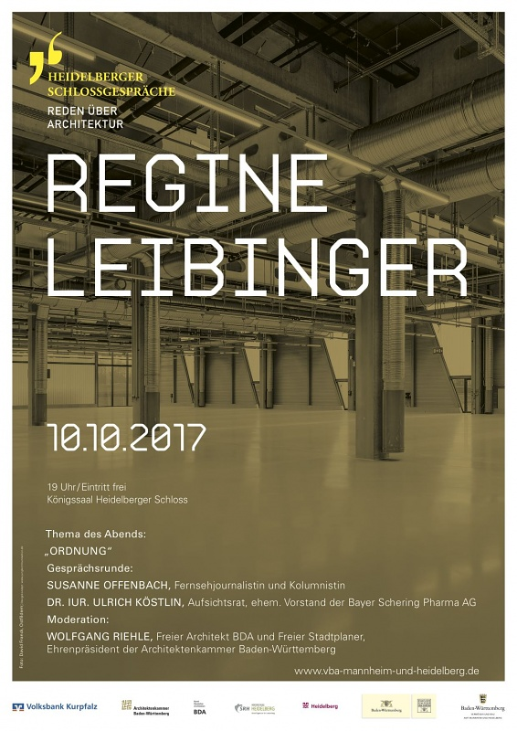 Save the Date: Regine Leibinger speaking about architecture at 14. Heidelberger Schlossgespräche