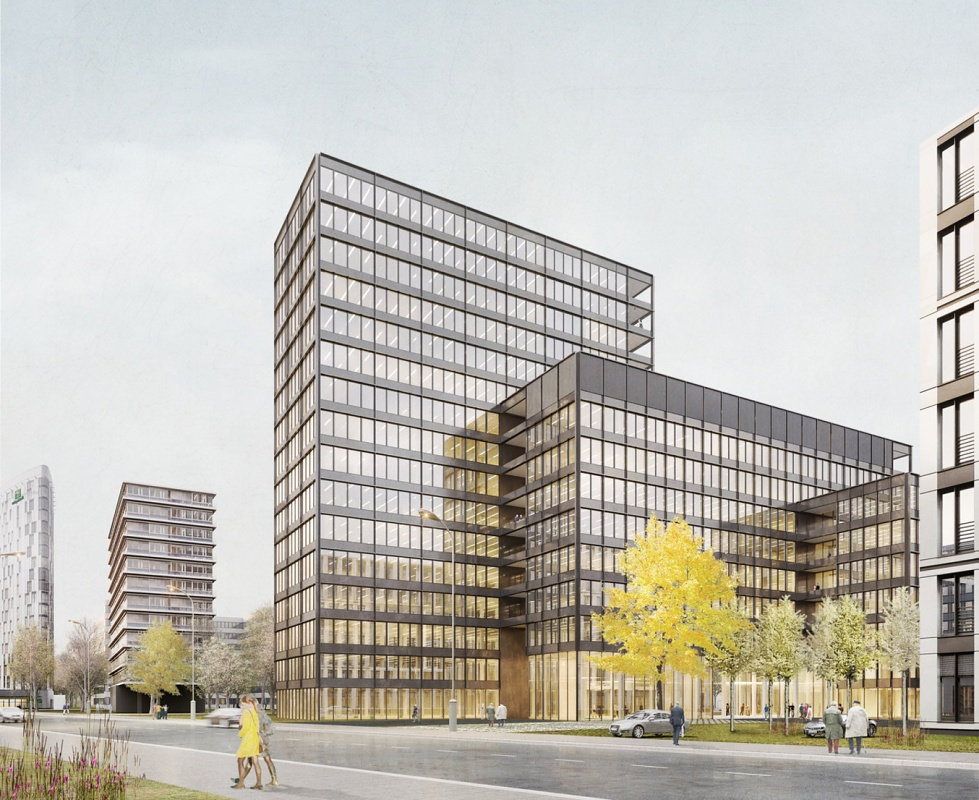 1st Prize - Planning Workshop Office Building Kap 5 in Hamburg