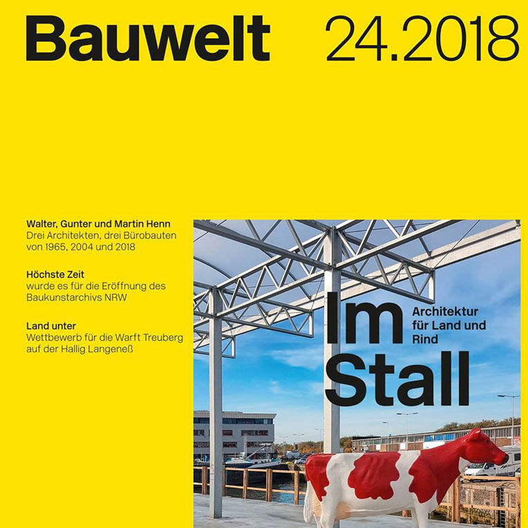 Reception Area of the Schaubühne in Bauwelt Magazine