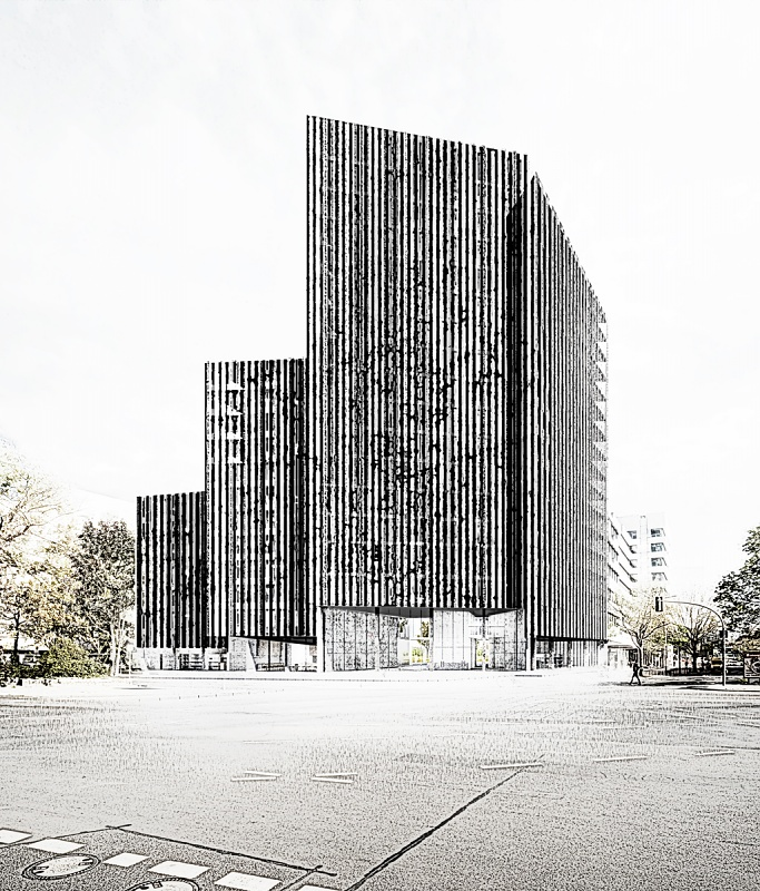 1st Prize - Competition for a high-rise in Berlin