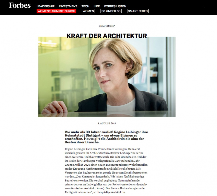 A portrait of Regine Leibinger in Forbes magazine