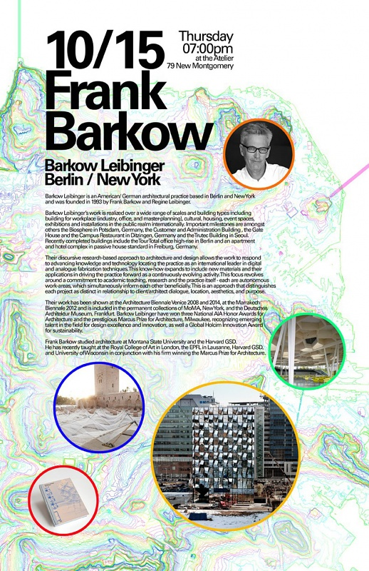 Frank Barkow at Academy of Art University, San Francisco