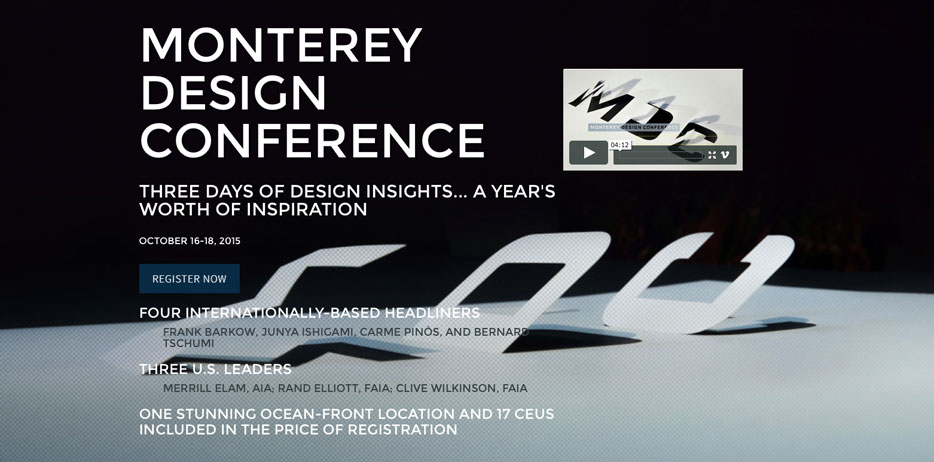 Frank Barkow at the Monterey Design Conference