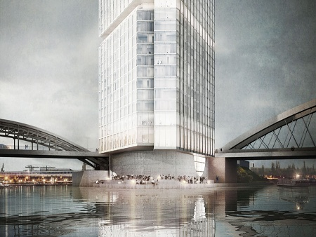 "Hotel and Boardinghouse ""Molenspitze"", Frankfurt am Main - Competition 1st Prize"