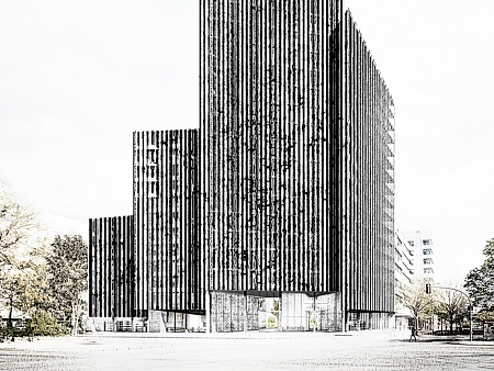 Office and Residential Building Kurfuerstenstrasse, Berlin - Competition 1st Prize